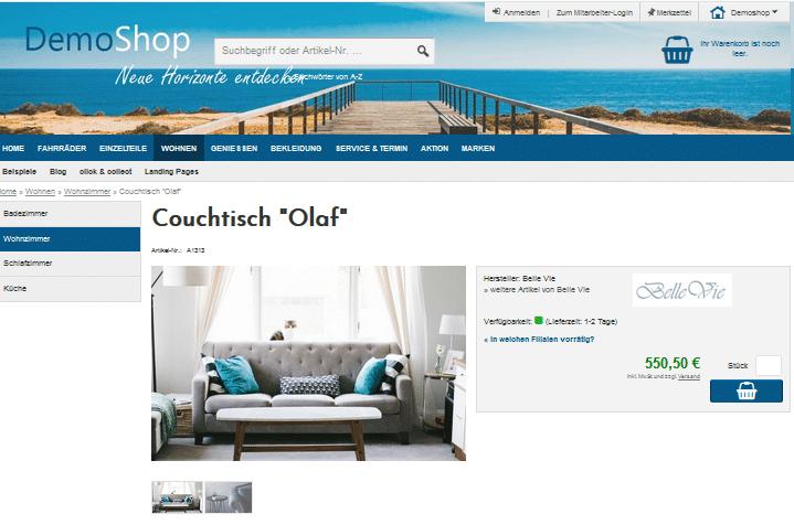 Onlineshop-System mit Warenwirtschaft